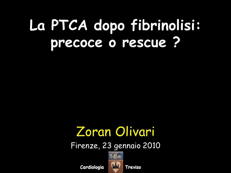 La PTCA dopo fibrinolisi: precoce o rescue