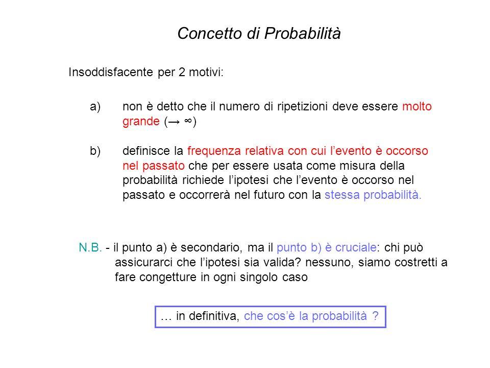 Concetto di Probabilità