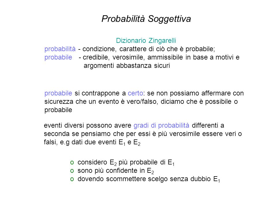 Probabilità Soggettiva