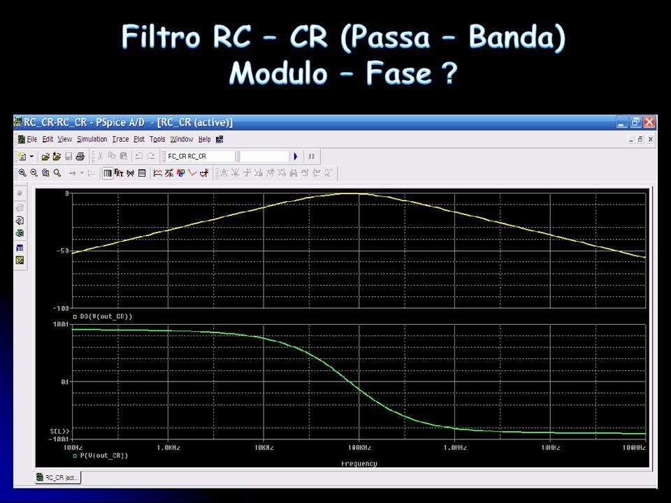 Filtro RC – CR (Passa – Banda) Modulo – Fase