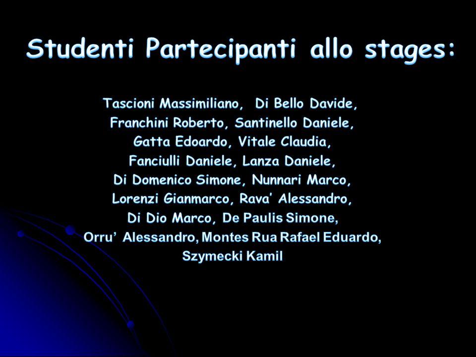 Studenti Partecipanti allo stages: