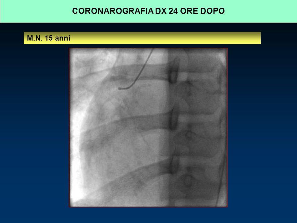 CORONAROGRAFIA DX 24 ORE DOPO