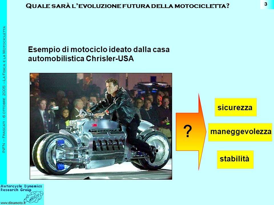 Esempio di motociclo ideato dalla casa automobilistica Chrisler-USA