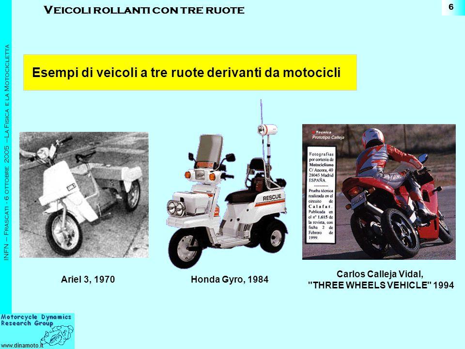 Esempi di veicoli a tre ruote derivanti da motocicli
