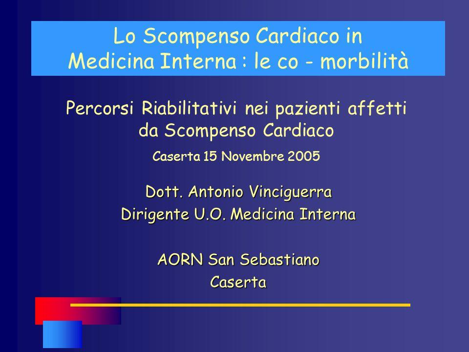 Lo Scompenso Cardiaco in Medicina Interna : le co - morbilità