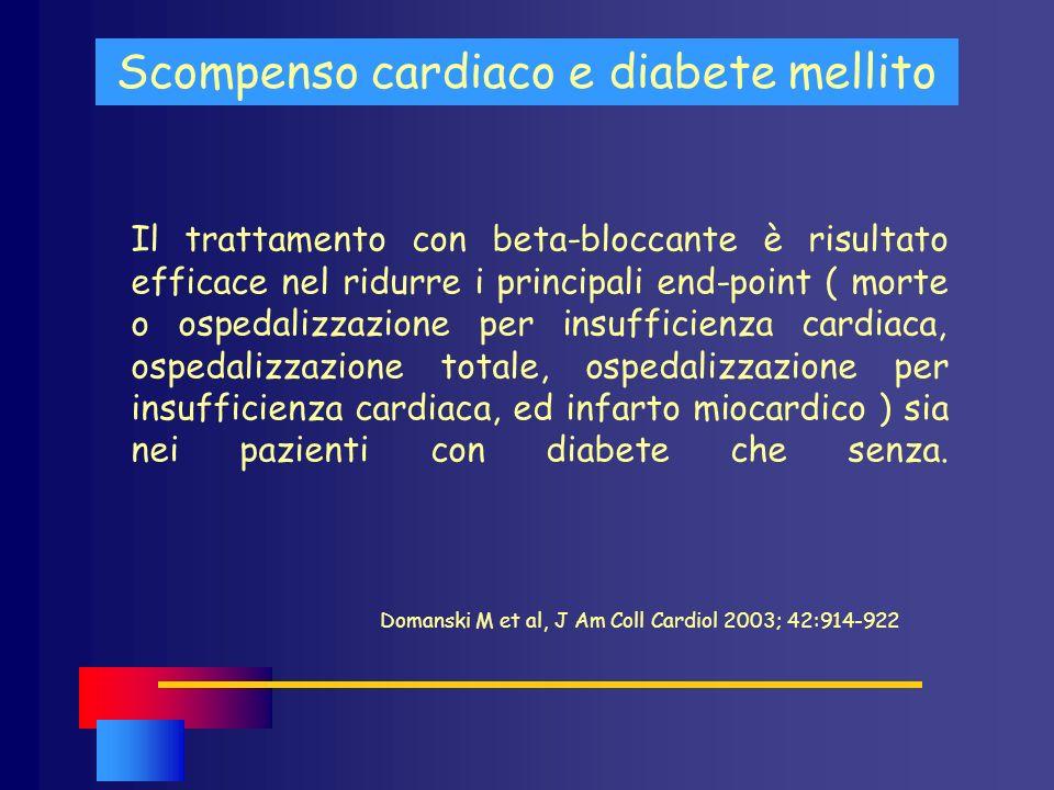 Scompenso cardiaco e diabete mellito