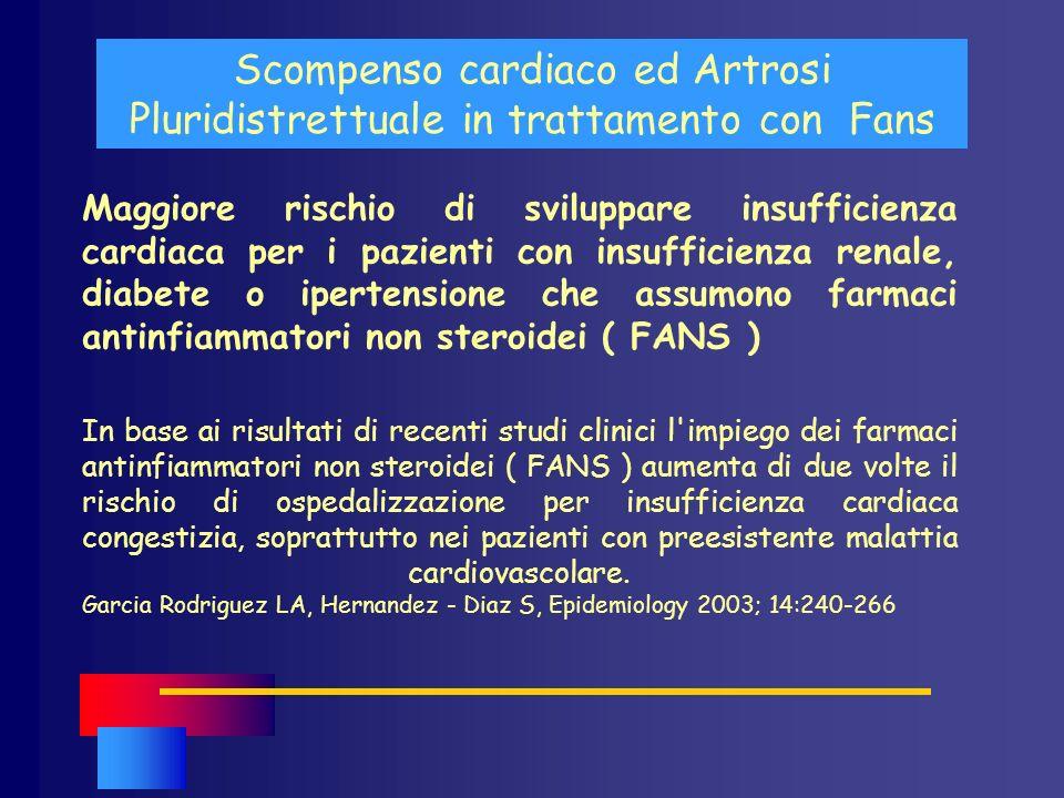 Scompenso cardiaco ed Artrosi Pluridistrettuale in trattamento con Fans