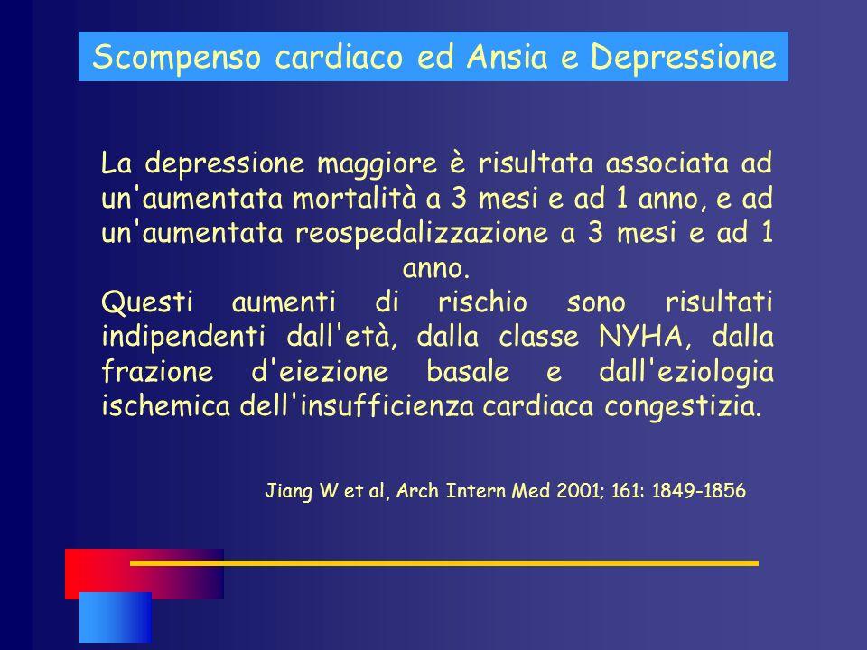 Scompenso cardiaco ed Ansia e Depressione