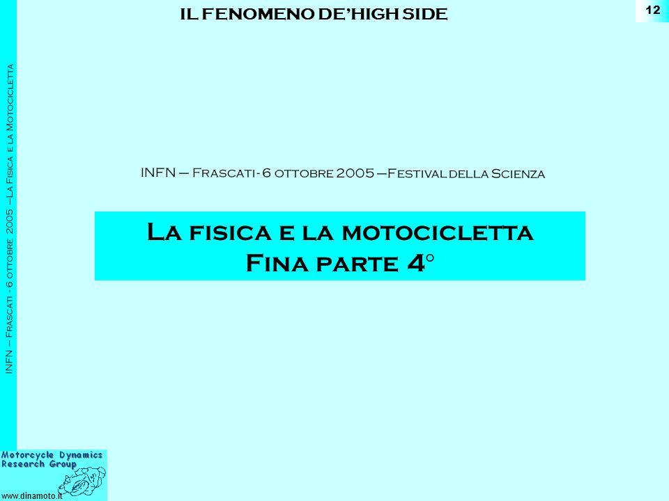 La fisica e la motocicletta Fina parte 4°