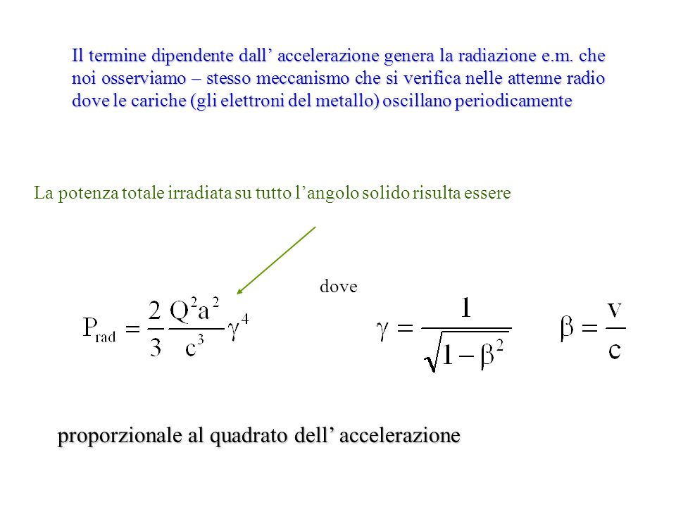proporzionale al quadrato dell' accelerazione
