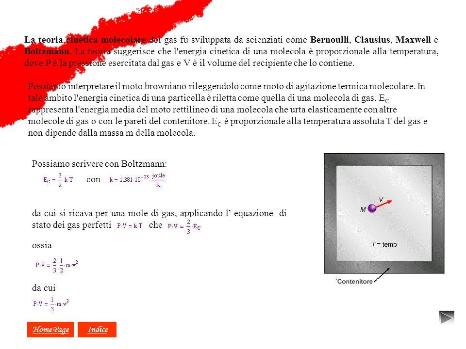 Possiamo scrivere con Boltzmann: