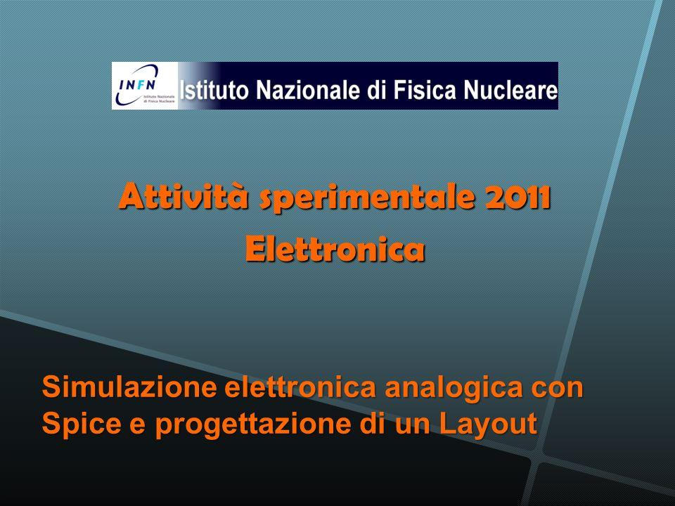 Attività sperimentale 2011
