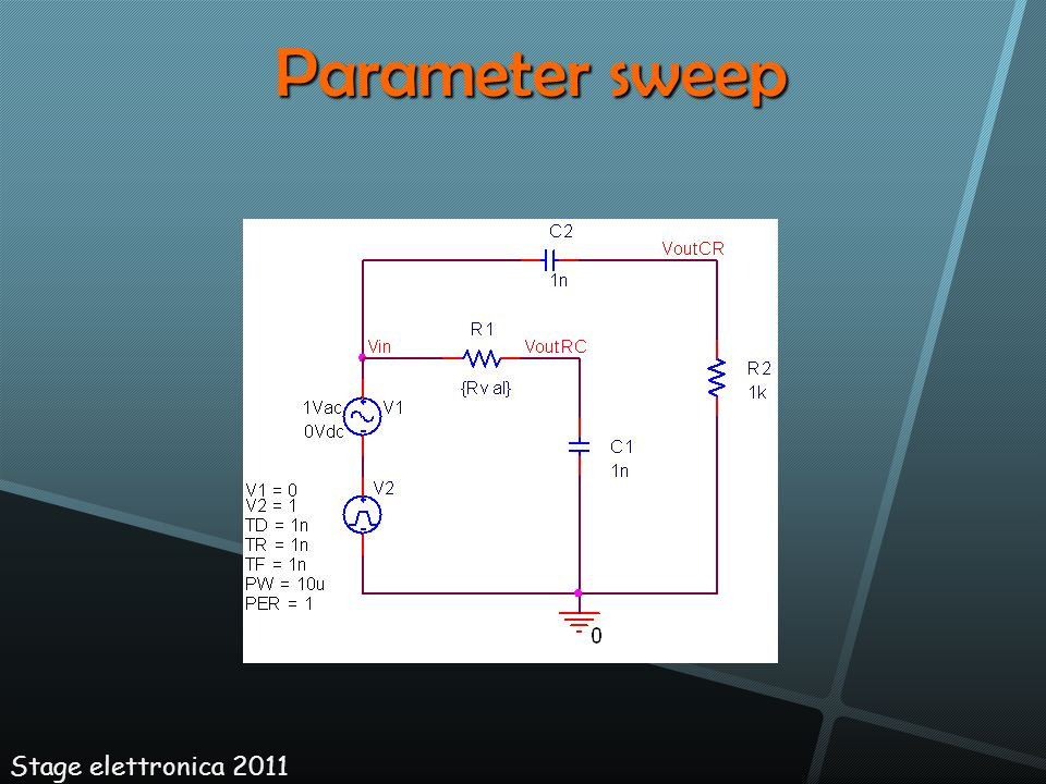 Parameter sweep Stage elettronica 2011 18