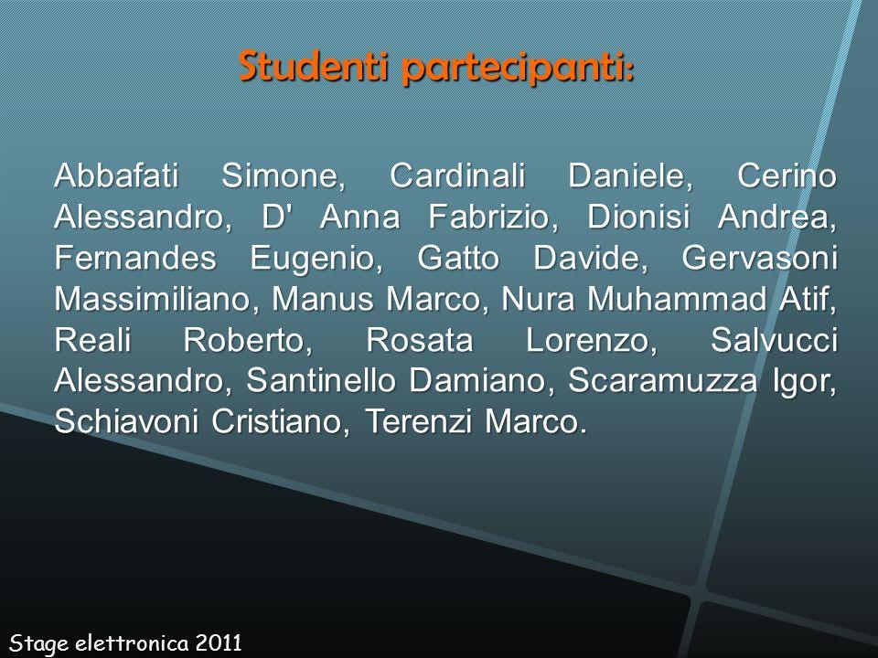 Studenti partecipanti:
