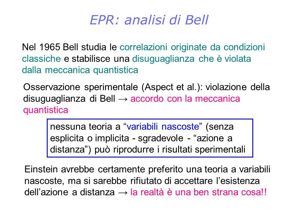 EPR: analisi di Bell
