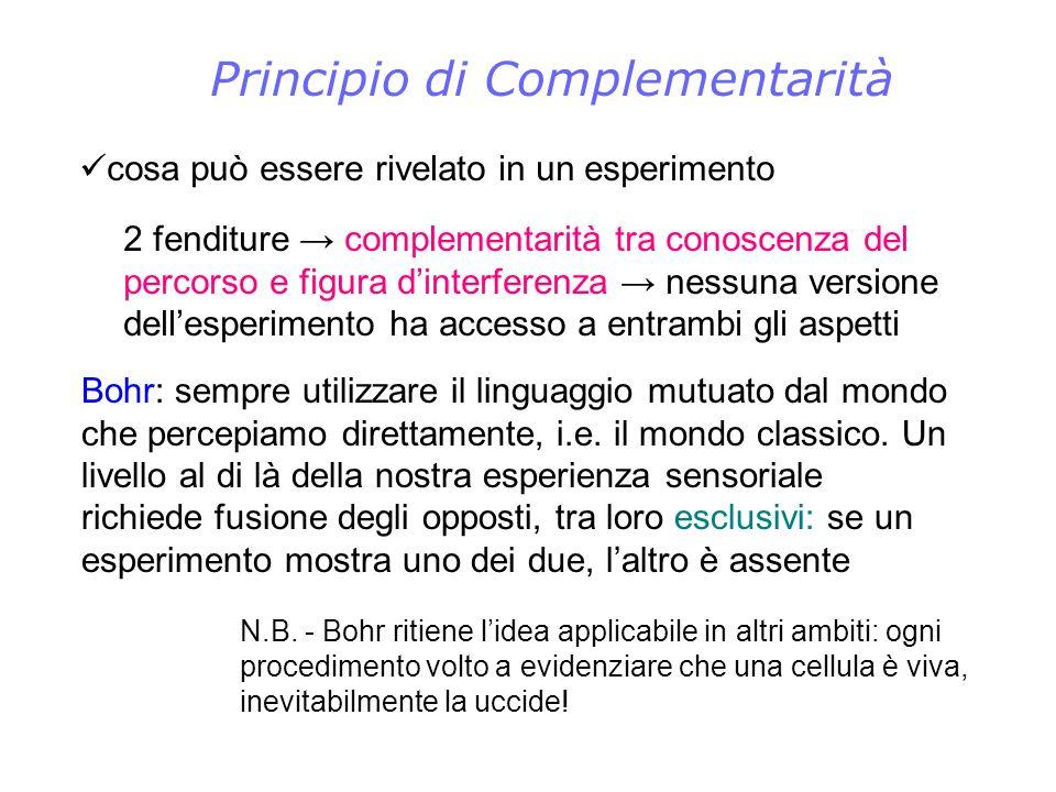 Principio di Complementarità