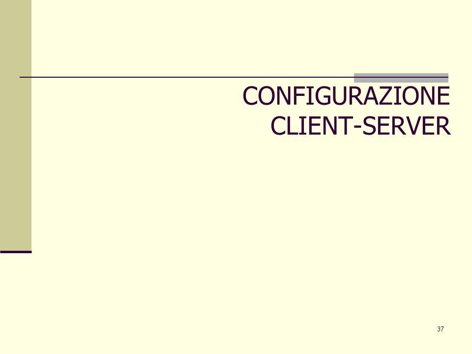 CONFIGURAZIONE CLIENT-SERVER