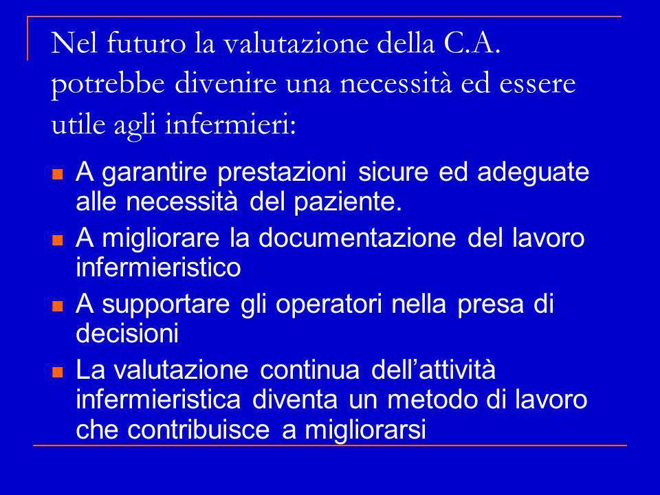 Nel futuro la valutazione della C. A