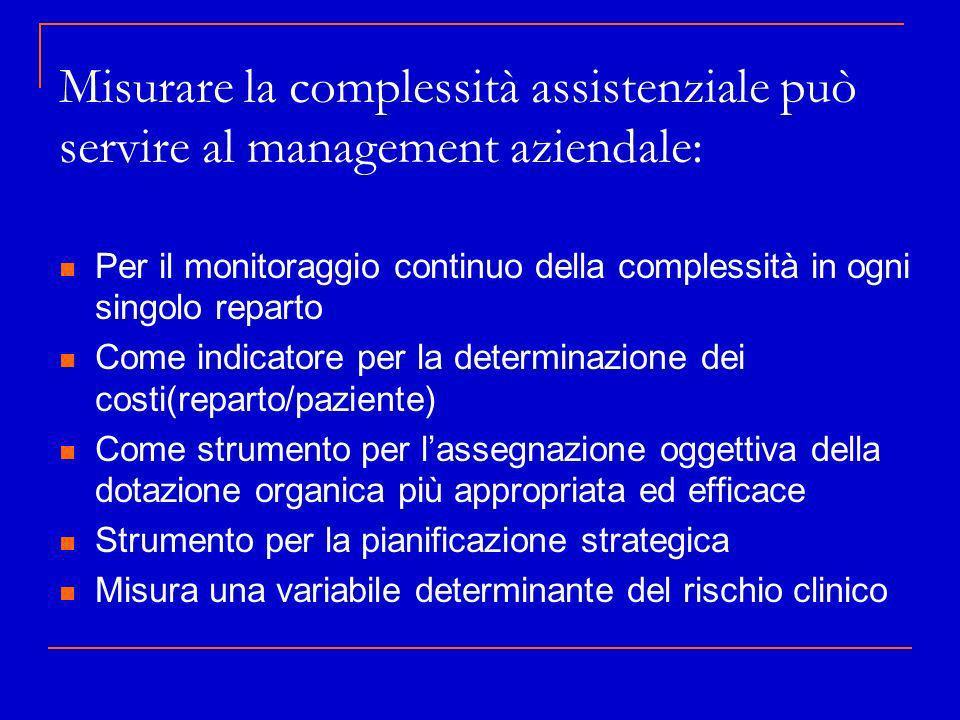 Misurare la complessità assistenziale può servire al management aziendale: