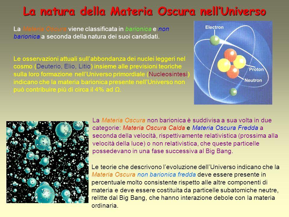La natura della Materia Oscura nell'Universo