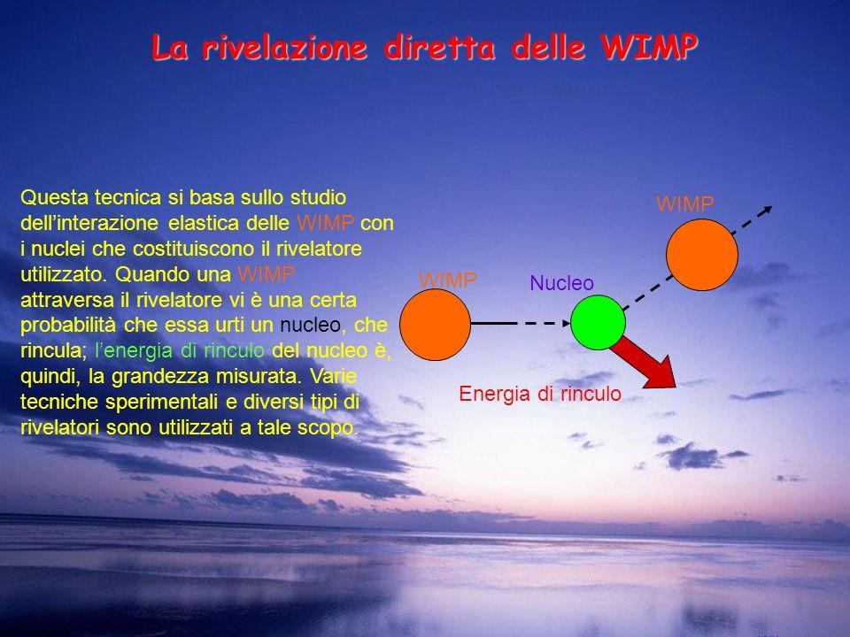 La rivelazione diretta delle WIMP