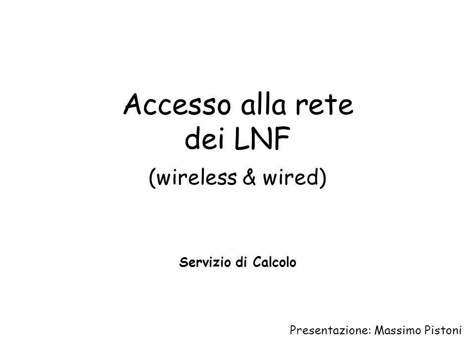 Accesso alla rete dei LNF