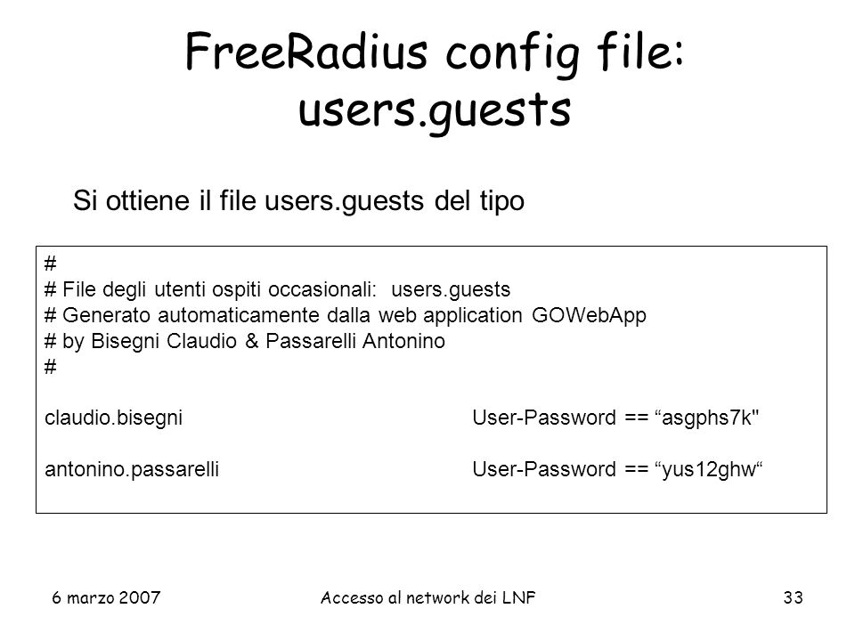 FreeRadius config file: users.guests