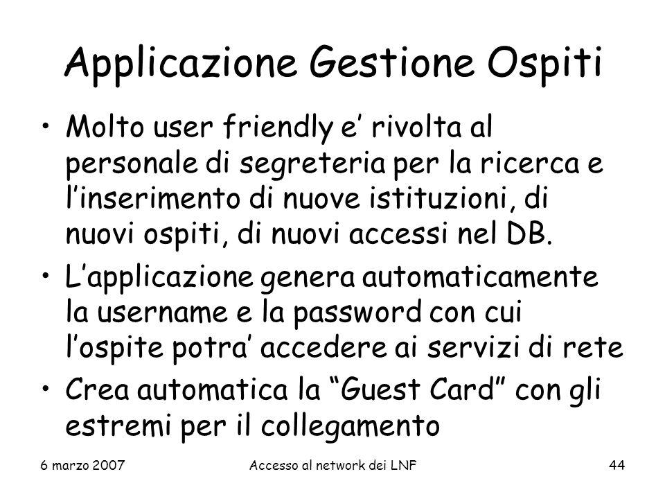 Applicazione Gestione Ospiti