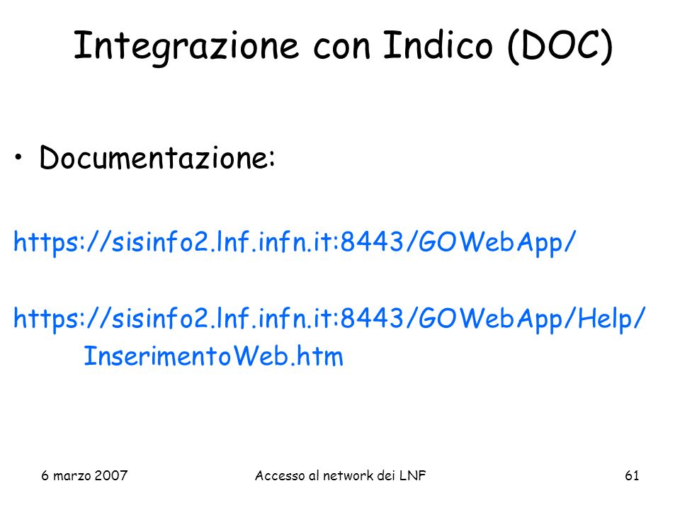 Integrazione con Indico (DOC)