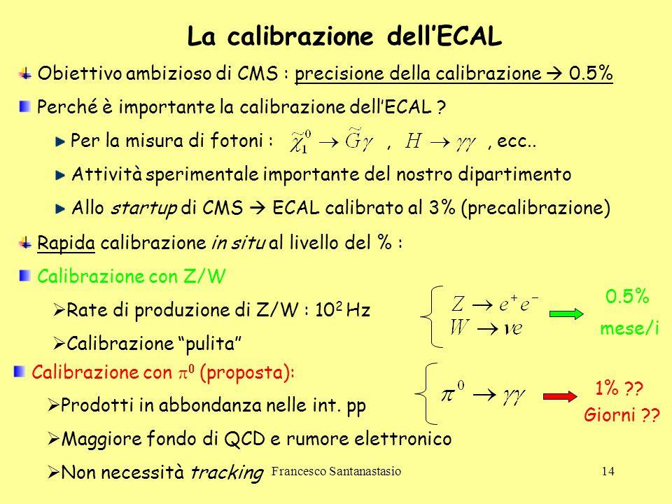 La calibrazione dell'ECAL