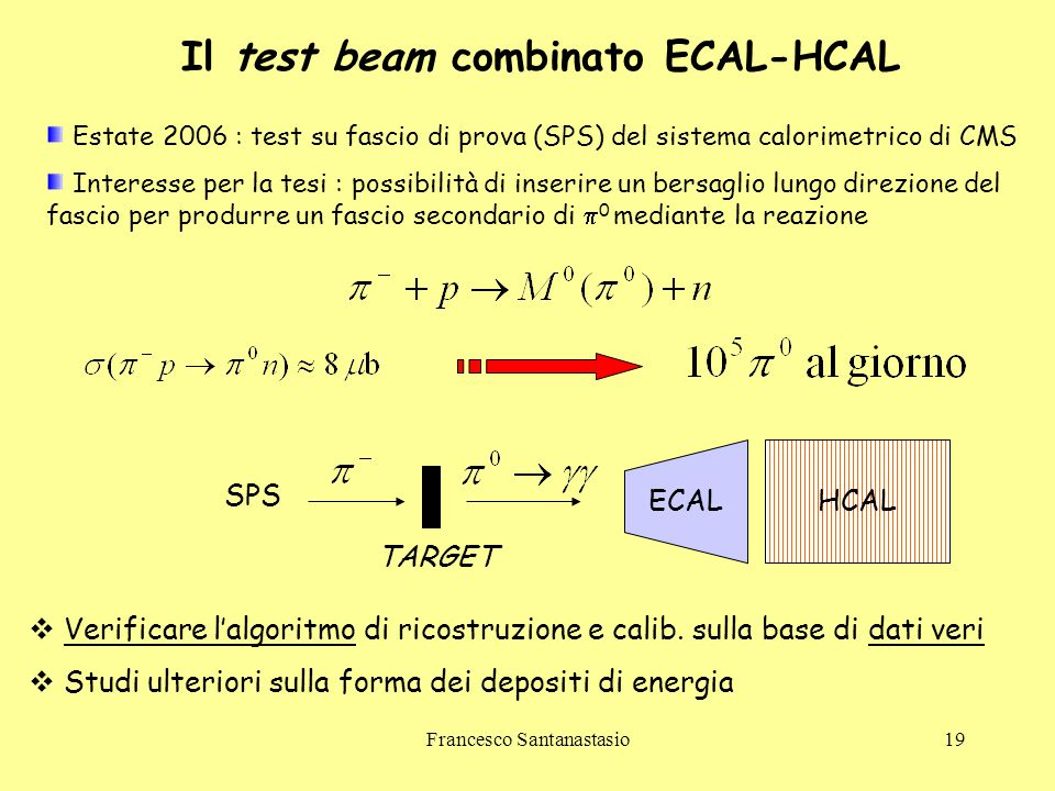 Il test beam combinato ECAL-HCAL