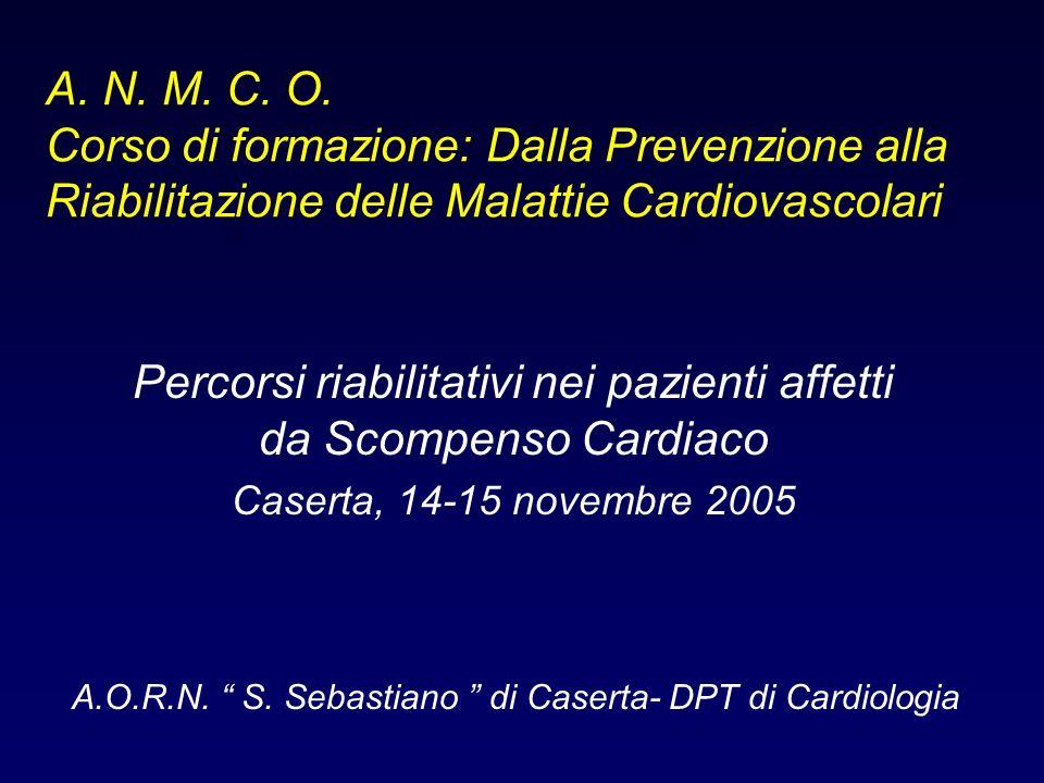 Percorsi riabilitativi nei pazienti affetti da Scompenso Cardiaco