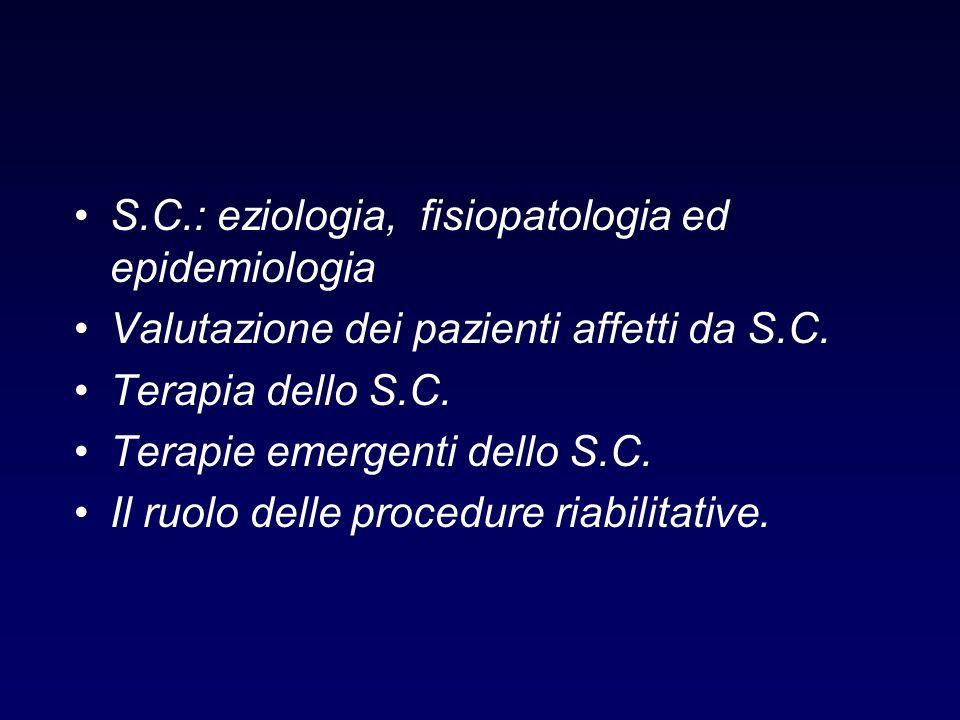 S.C.: eziologia, fisiopatologia ed epidemiologia