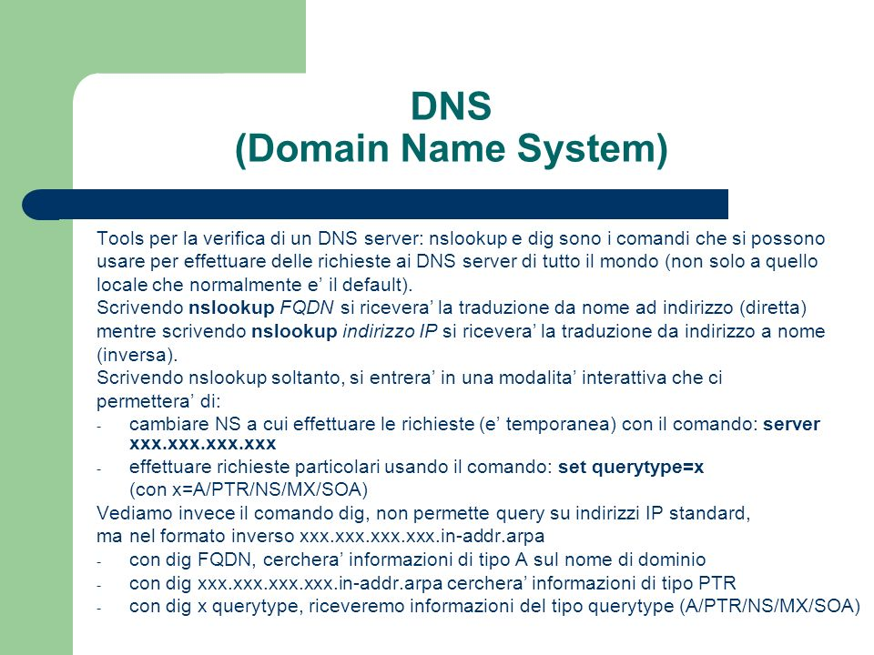 DNS (Domain Name System)