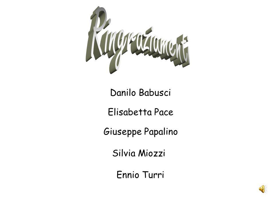 Ringraziamenti Danilo Babusci Elisabetta Pace Giuseppe Papalino