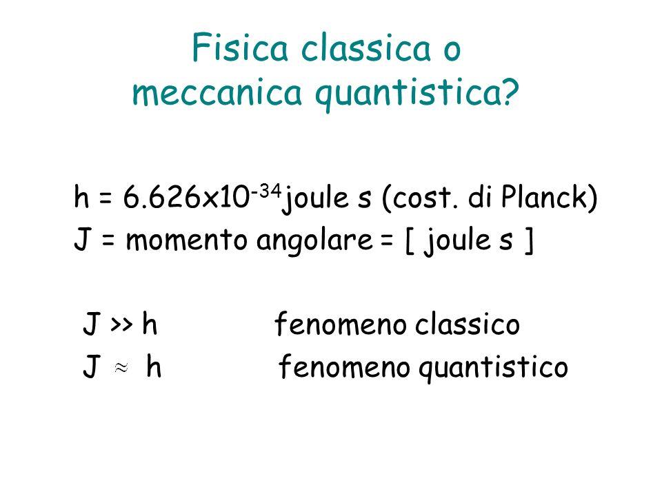 Fisica classica o meccanica quantistica