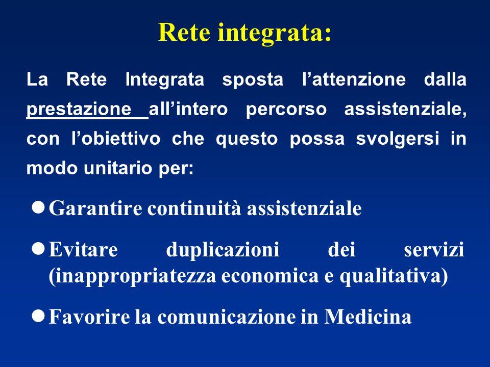Rete integrata: Garantire continuità assistenziale