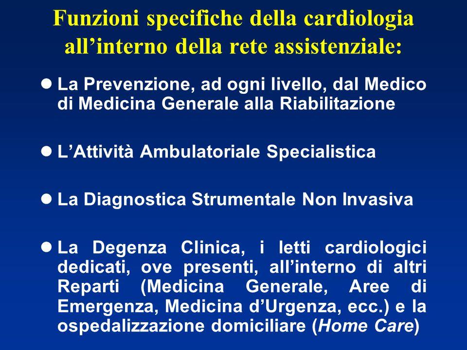Funzioni specifiche della cardiologia all'interno della rete assistenziale: