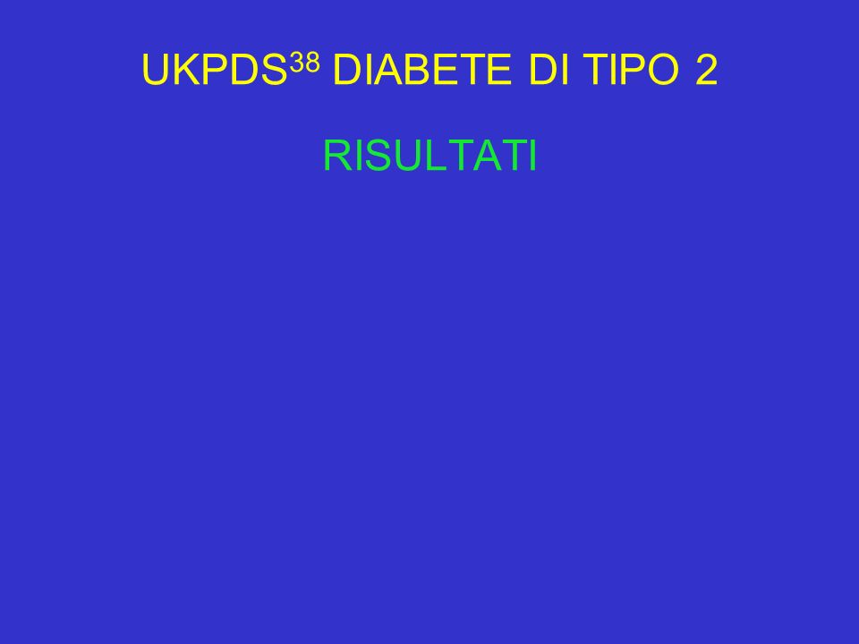 UKPDS38 DIABETE DI TIPO 2 RISULTATI