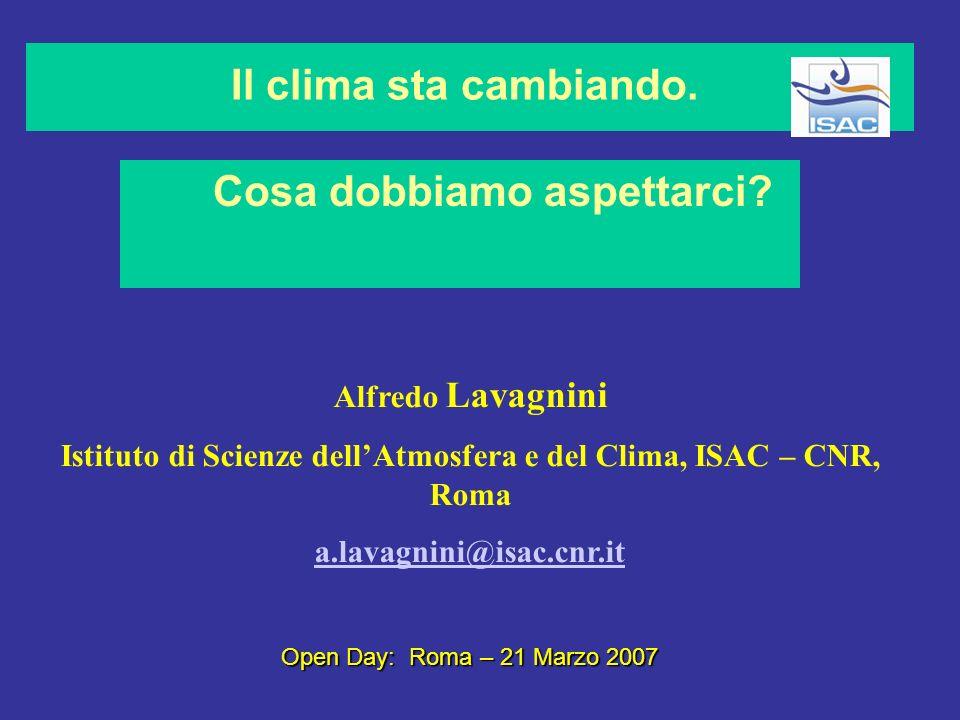 Istituto di Scienze dell'Atmosfera e del Clima, ISAC – CNR, Roma