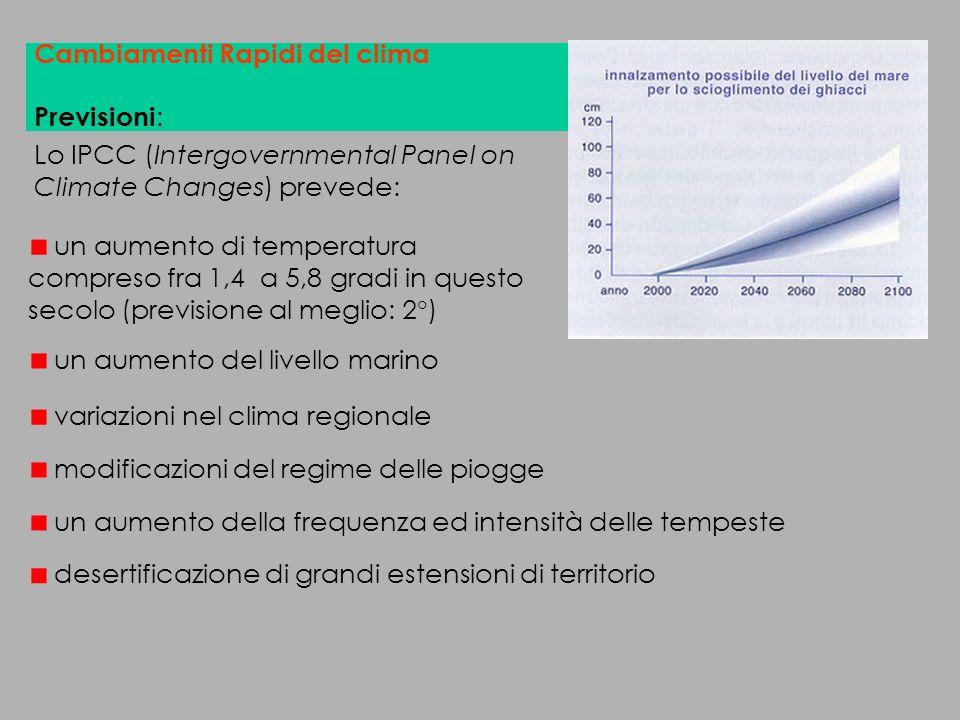 Cambiamenti Rapidi del clima