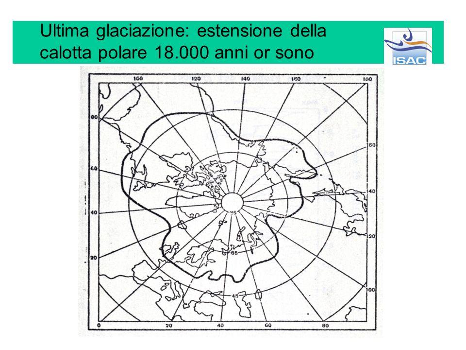 Ultima glaciazione: estensione della calotta polare 18