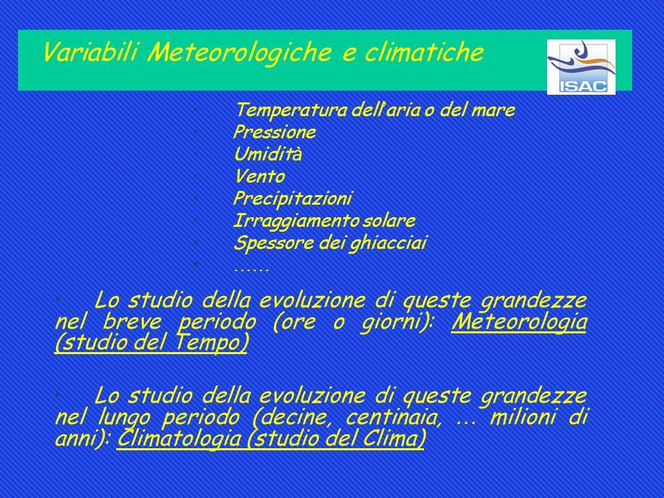 Variabili Meteorologiche e climatiche