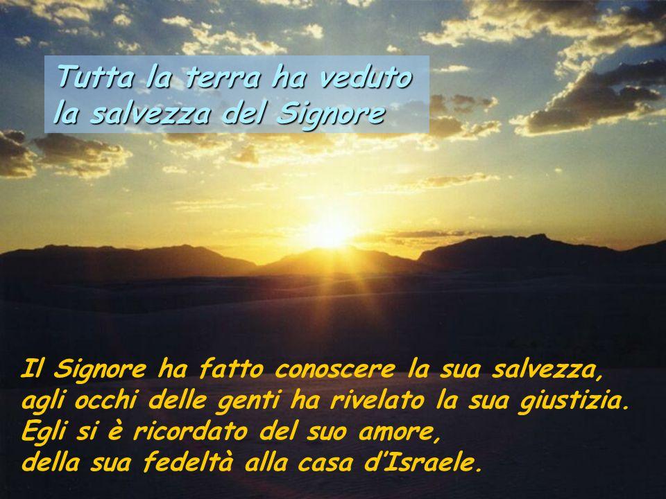 Tutta la terra ha veduto la salvezza del Signore