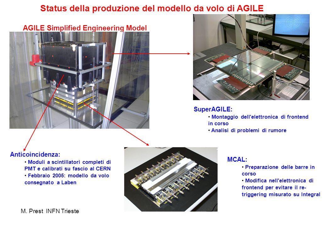 Status della produzione del modello da volo di AGILE