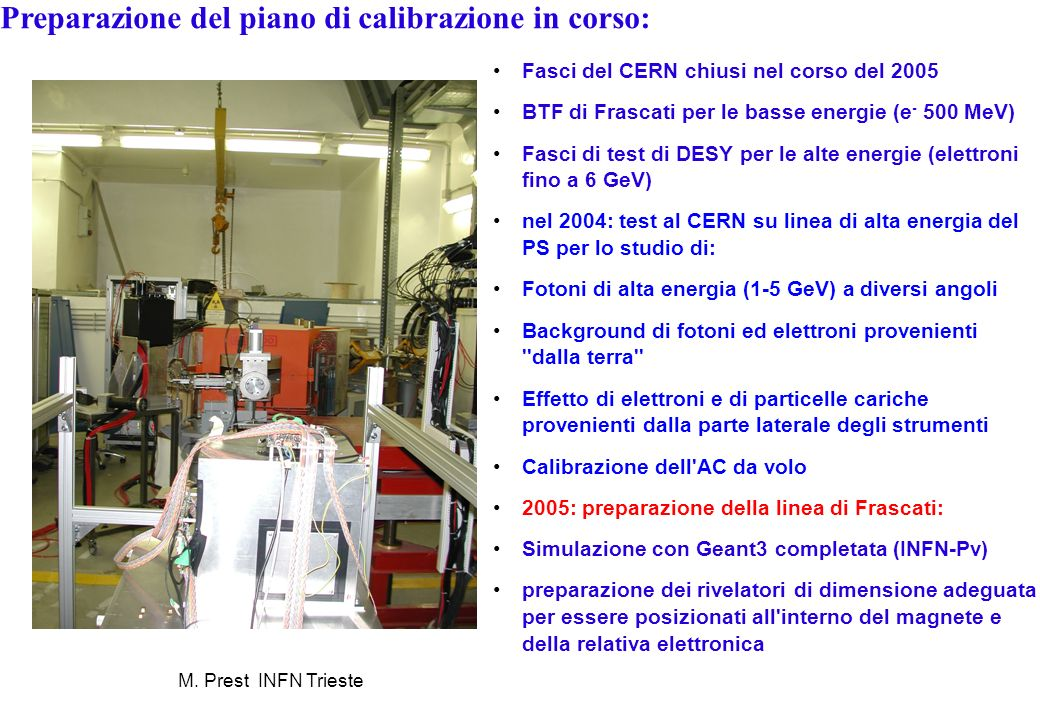 Preparazione del piano di calibrazione in corso: