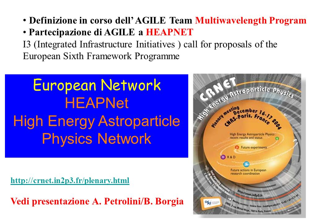 High Energy Astroparticle Physics Network