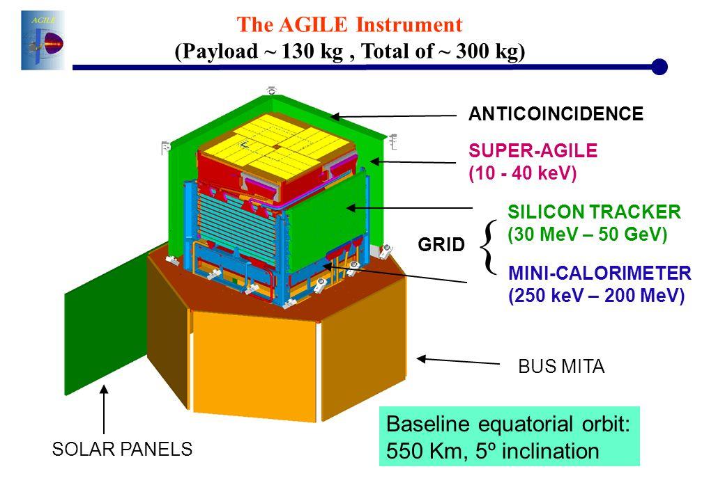 (Payload ~ 130 kg , Total of ~ 300 kg)