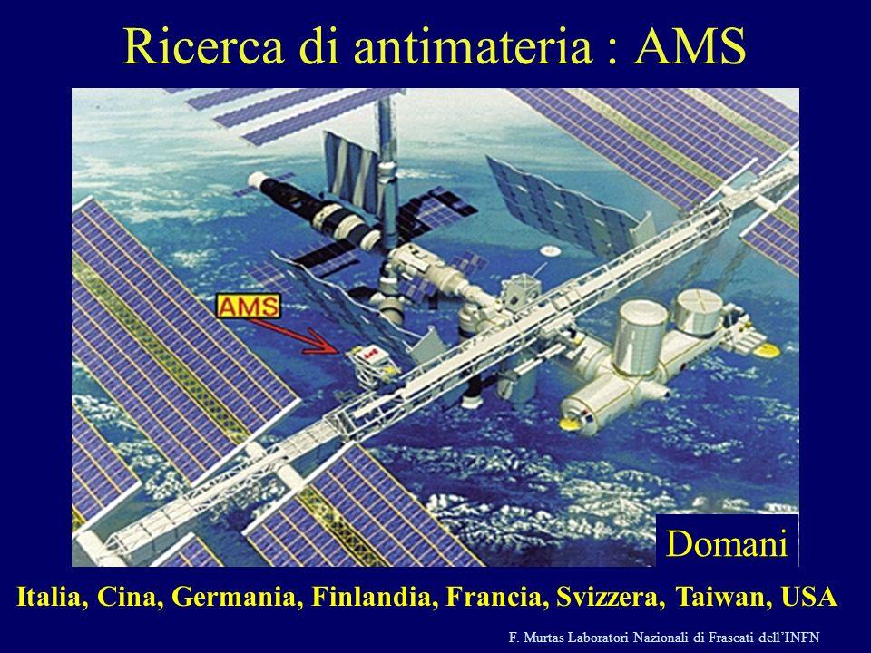 Ricerca di antimateria : AMS