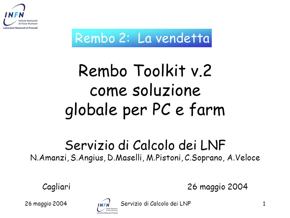Rembo Toolkit v.2 come soluzione globale per PC e farm